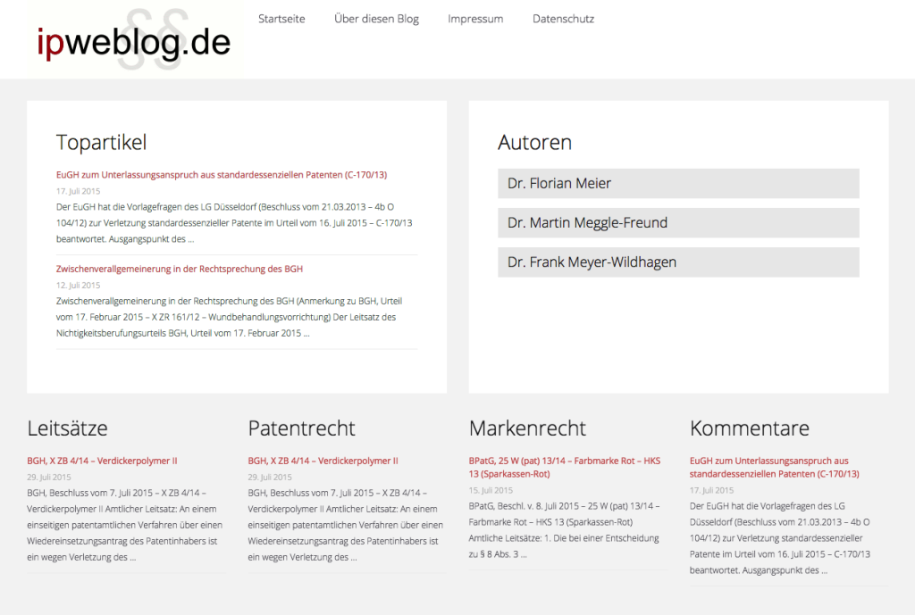 Screenshot ipwebblog